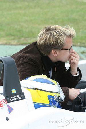 Marcus Ericsson and Kenny Brack