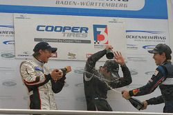 Renger van der Zande, Walter Grubmuller and Robert Wickens celebrate