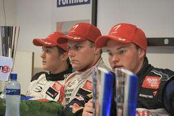 Mika Maki, Valtteri Bottas and Stefano Coletti