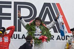 Race winner Jose Alonso