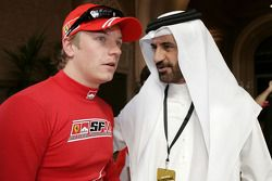 FIA's Vice-President for sport and 14-time Middle East Rally Champion Mohamed Ben Sulayem with Kimi