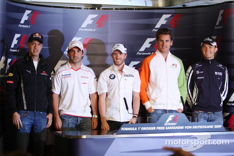 34059965 FIA press conference: the 5 german drivers, Sebastian Vettel, Red Bull  Racing,
