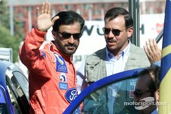 Rally winner Mohamed Ben Sulayem with the Chairman of Jordan Motor Sport HRH Prince Feisal Al-Hussein