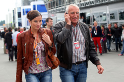 Marion Feichtner, girlfriend of Dietrich Mateschitz, Owner of Red Bull with Dietrich Mateschitz, Owner of Red Bull