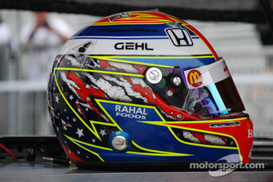 One of Graham Rahal helmets in the past.