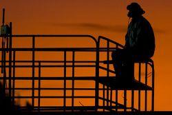 Richard Childress sits atop the NASCAR hauler
