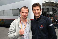 Mark Webber, Red Bull Racing, mit Felix Sturm