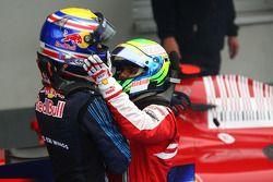 1. Mark Webber, Red Bull Racing; 3. Felipe Massa, Ferrari