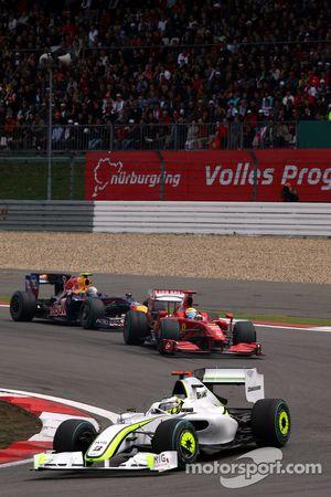 Jenson Button, Brawn GP, Felipe Massa, Scuderia Ferrari, Sebastian Vettel, Red Bull Racing