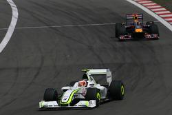 Rubens Barrichello, Brawn GP and Mark Webber, Red Bull Racing