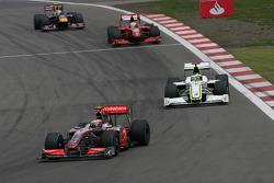 Хейкки Ковалайнен, McLaren Mercedes, Дженсон Баттон, Brawn GP, Фелипе Масса, Ferrari, и Себастьян Феттель, Red Bull