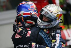 1. Mark Webber, Red Bull Racing; 2. Sebastian Vettel, Red Bull Racing