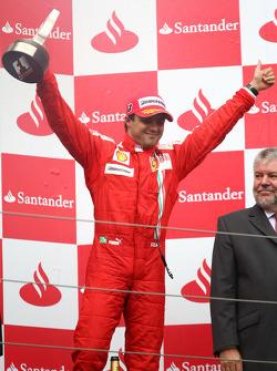 Podio: tercer lugar Felipe Massa, Scuderia Ferrari