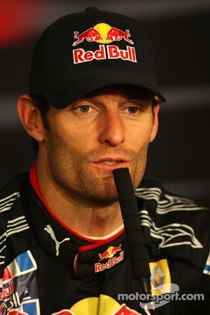 Conferencia de prensa FIA: ganador de la carrera Mark Webber, Red Bull Racing