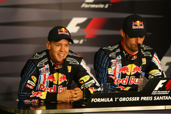 1. Mark Webber, Red Bull Racing; 2. Sebastian Vettel, Red Bull Racing