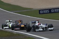 Robert Kubica, BMW Sauber F1 Team, Mark Webber, Red Bull Racing, Jenson Button, Brawn GP