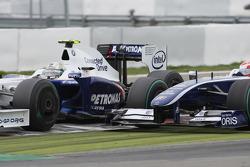 Nick Heidfeld, BMW Sauber F1 Team y Kazuki Nakajima, Williams F1 Team
