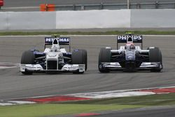 Nick Heidfeld, BMW Sauber F1 Team and Kazuki Nakajima, Williams F1 Team