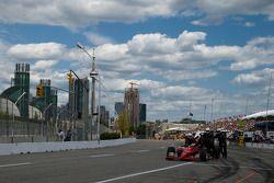 Robert Doornbos, Newman/Haas/Lanigan Racing, in de pitstraat