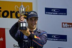 Podium celebrations: second place Daniel Ricciardo