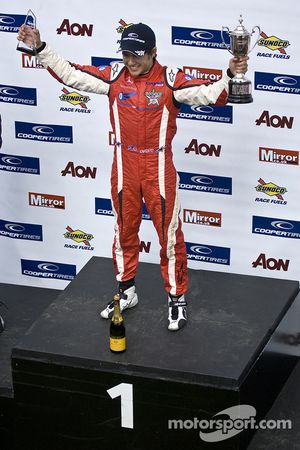 Podium: race winner Riki Christodoulou