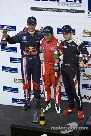 Podium: race winner Riki Christodoulou, second place Daniel Ricciardo, third place Walter Grubmuller