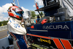 Simon Pagenaud gets ready for a pit stop