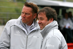 Hans-Jürgen Mattheis, Team Manager HWA and Gerhard Ungar, Chief Designer AMG