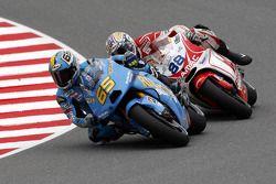 Loris Capirossi, Rizla Suzuki MotoGP, et Niccolo Canepa, Pramac Racing