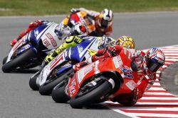 Casey Stoner, Ducati Team, Valentino Rossi, Fiat Yamaha Team, Jorge Lorenzo, Fiat Yamaha Team, Dani