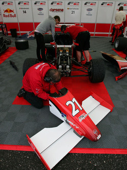 The car of Kazim Vasiliauskas is worked on in the garage