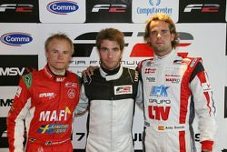 Post Qualifying press conference,: Sebastian Hohenthal, Philipp Eng and Andy Soucek