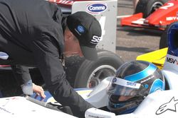 Martin Brundle, gives advice to his son Alex Brundle