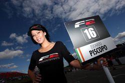 Mel Dowding, grid girl for Edoardo Piscopo