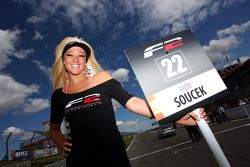 The grid girl for Andy Soucek
