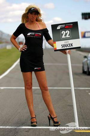Grid girl for Andy Soucek
