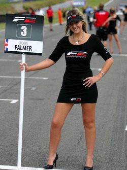 Grid girl for Jolyon Palmer