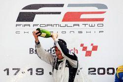 Race 1 winner Philipp Eng on the podium