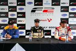 Race 1 press conference: 1st Philipp Eng, 2nd Andy Soucek, 3rd Henry Surtees