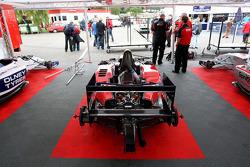The Formula Two paddock