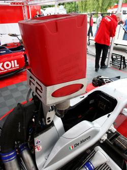 The car of Nicola de Marco in the paddock