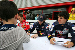 Robert Wickens in the autograph session