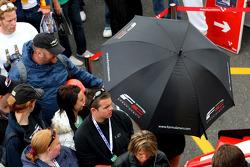 The fans wait for the Formula Two autograph session