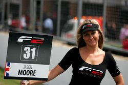 The grid girl of Jason Moore