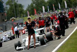 Formula Two grid girl for Natacha Gachnang
