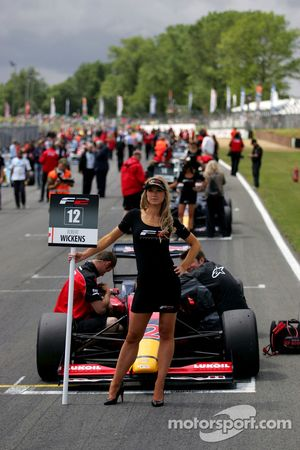 Formula Two grid girl for Robert Wickens