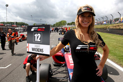 The grid girl for Robert Wickens