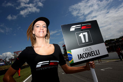The grid girl for Carlos Iaconelli