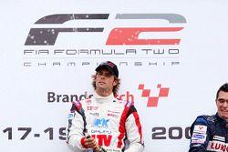 Race 2 winner Andy Soucek on the podium