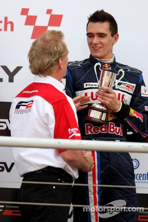 3rd Mikhail Aleshin on the podium